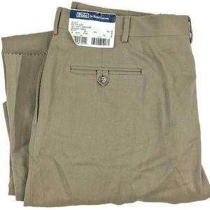 Ralph Lauren Dalton Tan Wool Dress Pants Sz 37x38